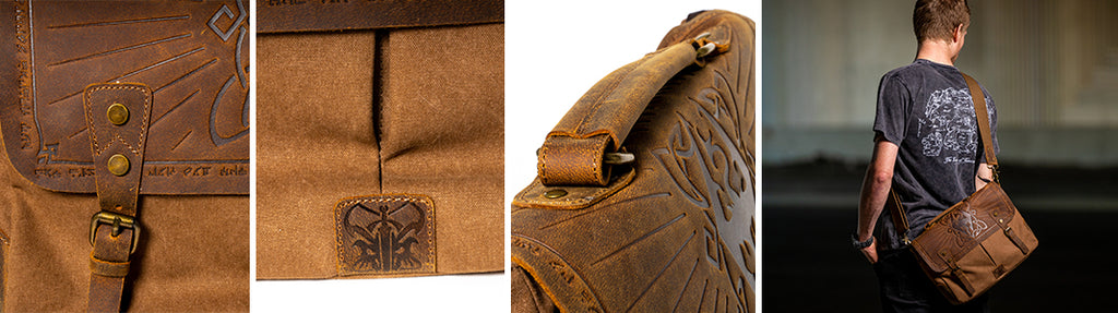Elder Scrolls V: Skyrim Dragon Hunter Messenger Bag Details