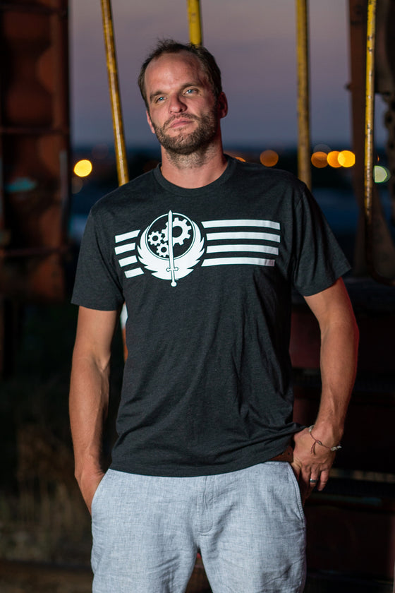 Brotherhood of Steel Stripes Tee