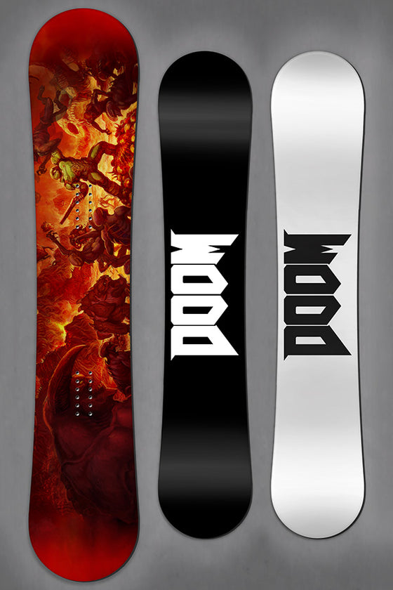 DOOM Key Art Snowboard