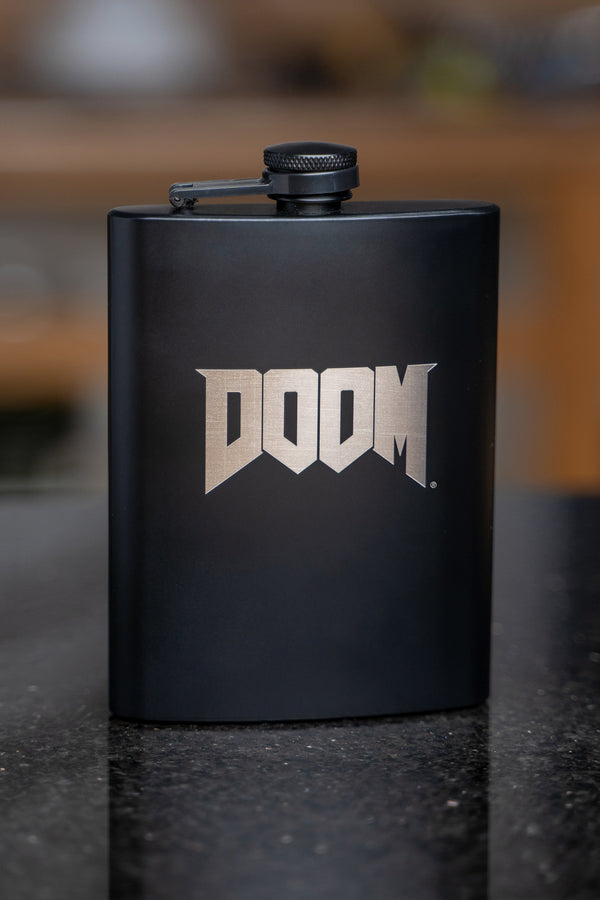 DOOM Logo Flask