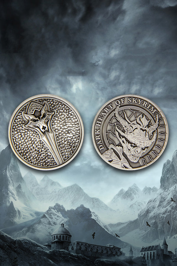 Vampire Lord Collectible Coin (front and back)