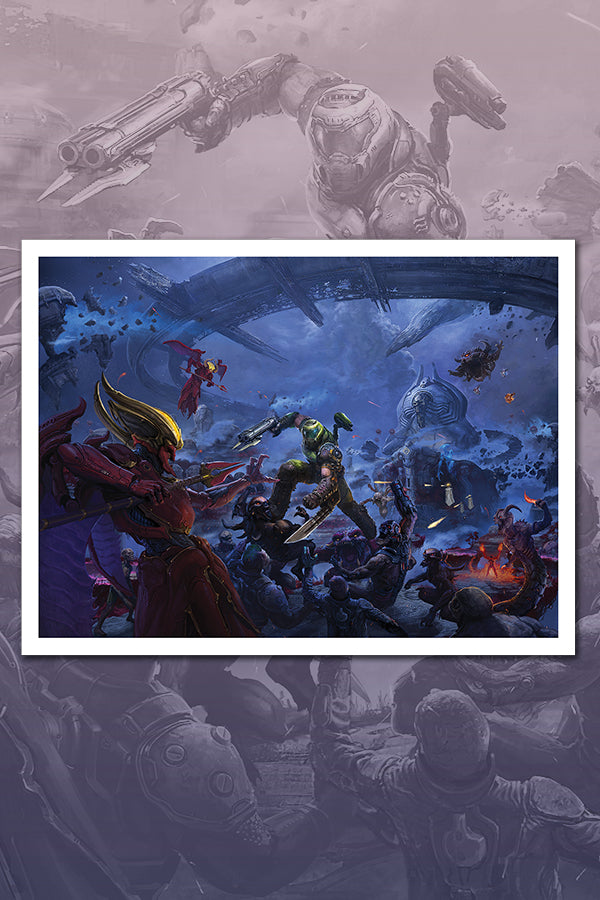 DOOM: Ancient Gods Lithograph