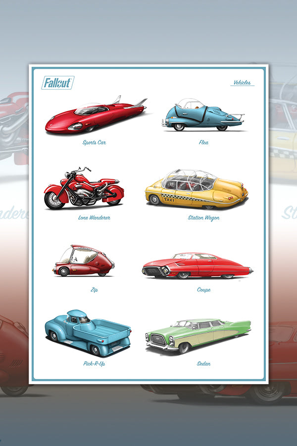 Vehicles of Fallout Poster