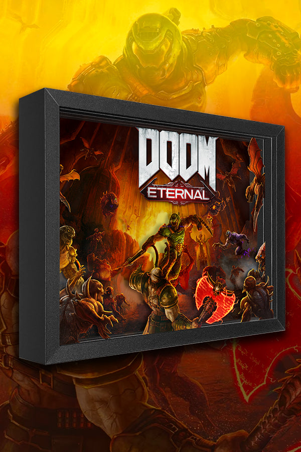 Doom Eternal Marauder Shadow Box Official Bethesda Gear Store