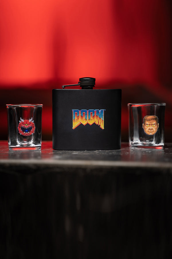 DOOM Classic Flask & Shot Glass Set