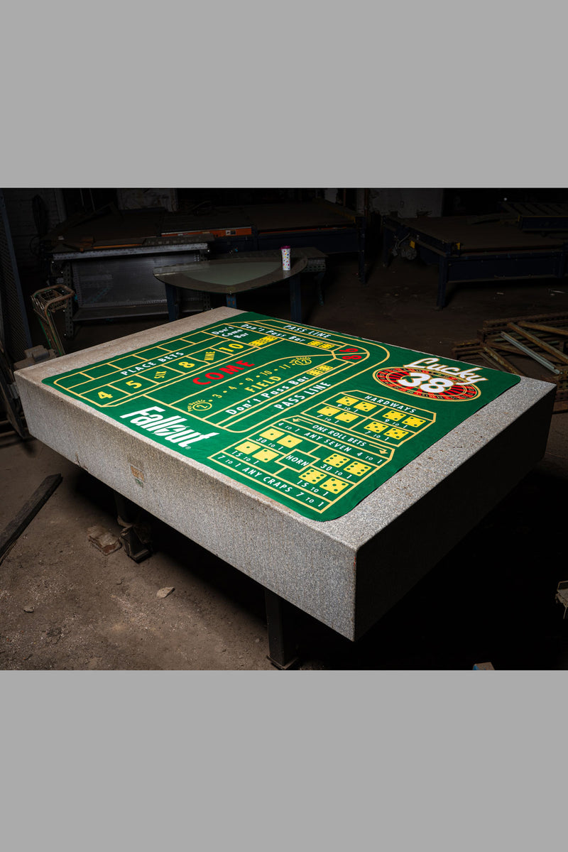 Lucky 38 Craps Table Gaming Mat Bethesda Gear Store