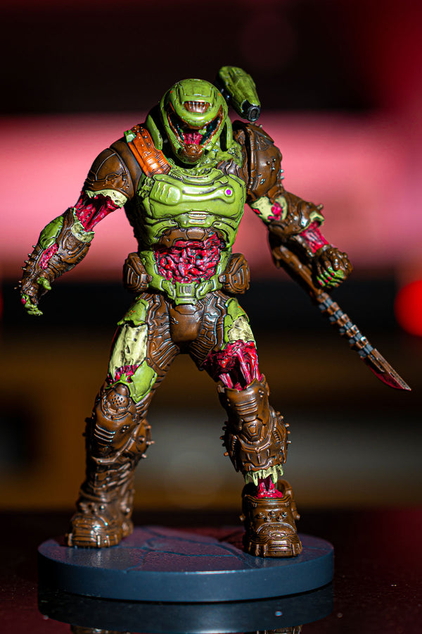Zombie DOOM Slayer Statue