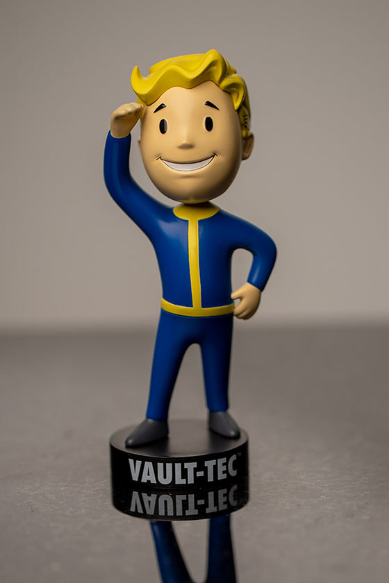 Front view of Vault Boy Perception 76 Bobblehead