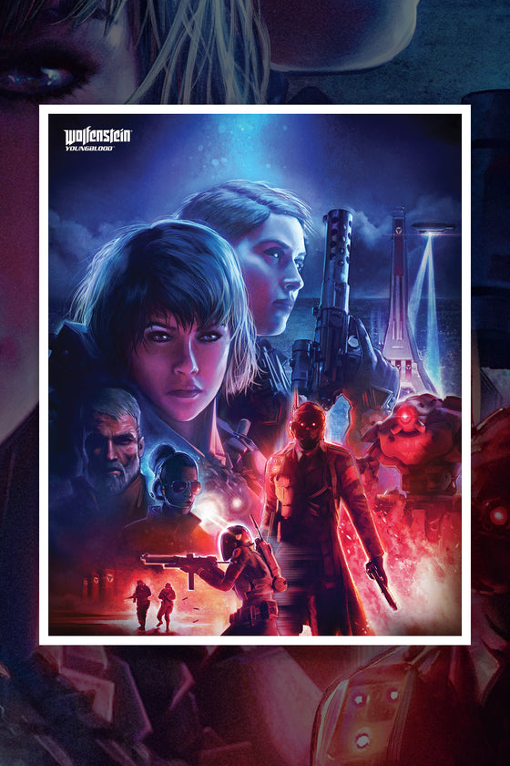 Wolfenstein Youngblood Lithograph