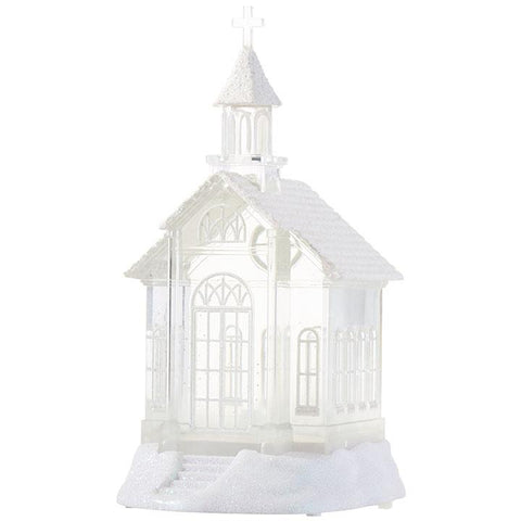 "10.5"" Church Lighted Water Lantern - Treehouse Gift & Home"
