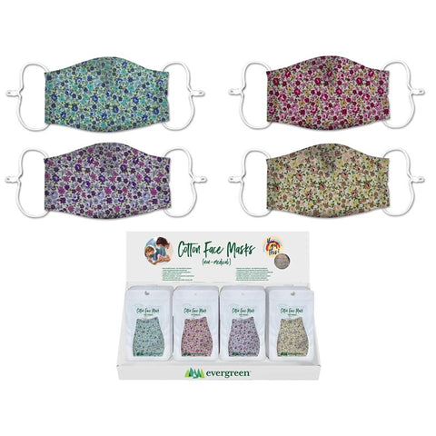 Adult Non-Medical Cotton Face Mask Flowers - Treehouse Gift & Home