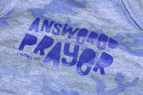 Answered Prayer Onesie in Camo - Treehouse Gift & Home