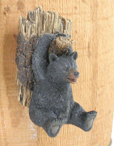 "Bear & Pine Tree Hook 5.25""H - Treehouse Gift & Home"