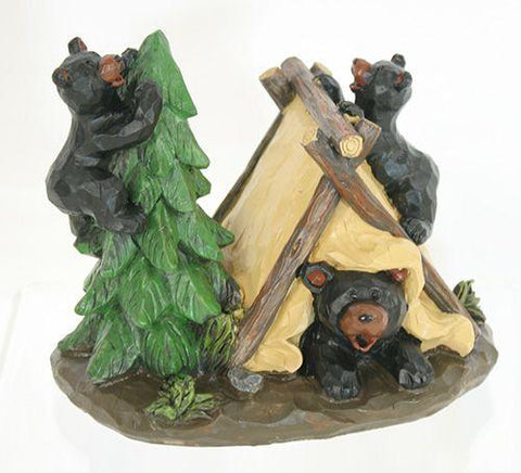 "Bears Camping 6""Wx5""H - Treehouse Gift & Home"