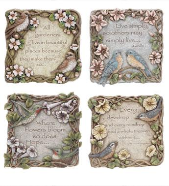 Bird Stepping Stone, Live simply - Treehouse Gift & Home