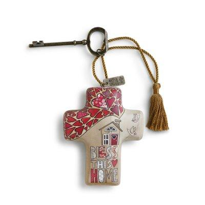 Bless This Home Artful Cross - Treehouse Gift & Home