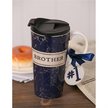 Ceramic Travel Cup: Brother - Treehouse Gift & Home