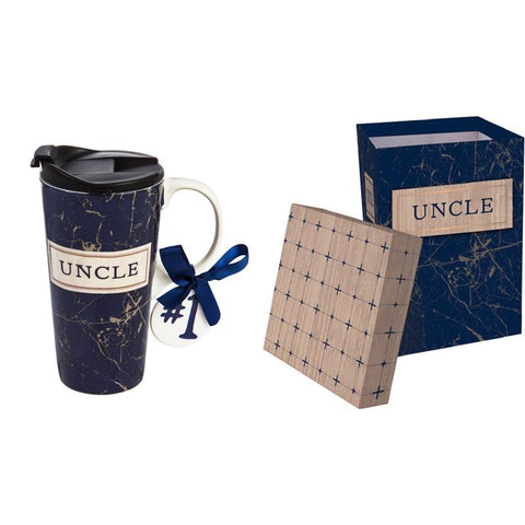 Ceramic Travel Cup: Uncle - Treehouse Gift & Home