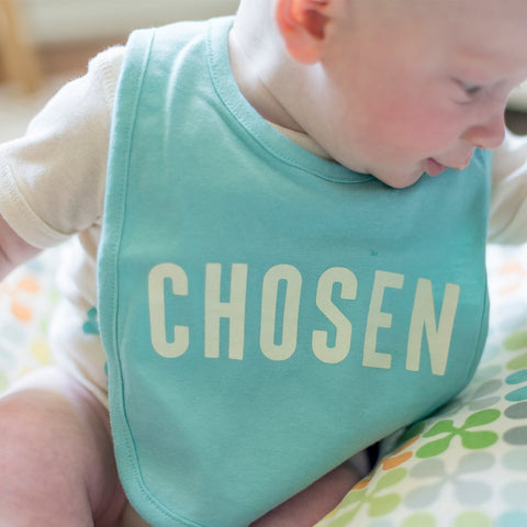 Chosen Bib in Chill Blue - Treehouse Gift & Home