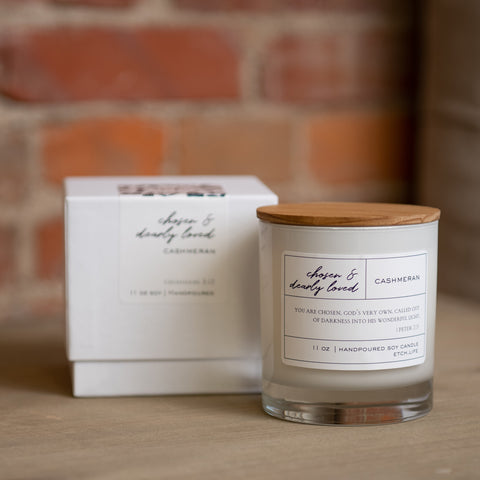 Chosen & Dearly Loved Boxed Candle in 11 oz - Treehouse Gift & Home
