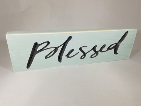 Christian Wall Sign or Sitter: Blessed - Treehouse Gift & Home