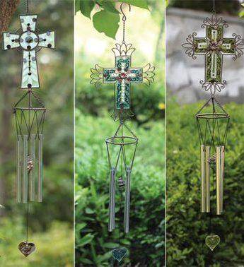 Cross Wind chime, Yellow - Treehouse Gift & Home