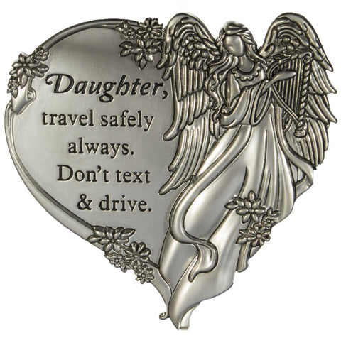 Daughter, Travel Safely Always. Don't Text and Drive. Visor Clip - Treehouse Gift & Home