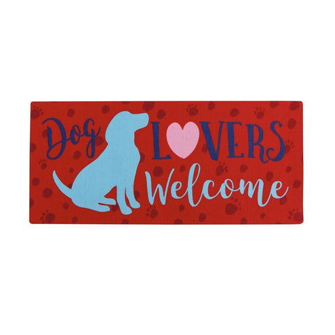 Dog Lovers Welcome Sassafras Switch Mat - Treehouse Gift & Home