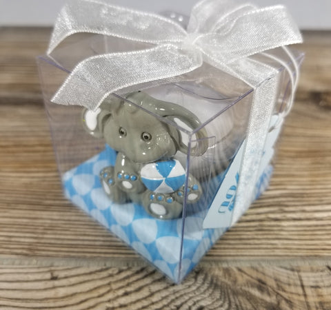 Elephant Tea Light Holder Blue Treehouse Gift & Home