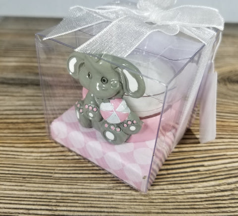 Elephant Tea Light Holder Pink - Treehouse Gift & Home