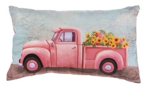Floral Truck Pillow - Treehouse Gift & Home