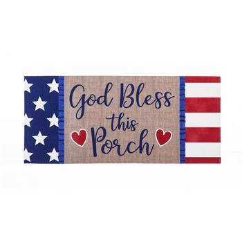 God Bless this Porch Sassafras Switch Mat - Treehouse Gift & Home