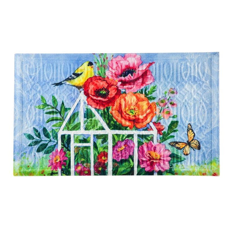 Greenhouse Birds Embossed Floor Mat - Treehouse Gift & Home