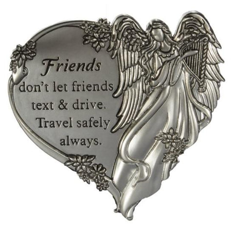 Friends Don't Text And Drive. Travel Safely. Guardian Angel Visor Clip - Treehouse Gift & Home