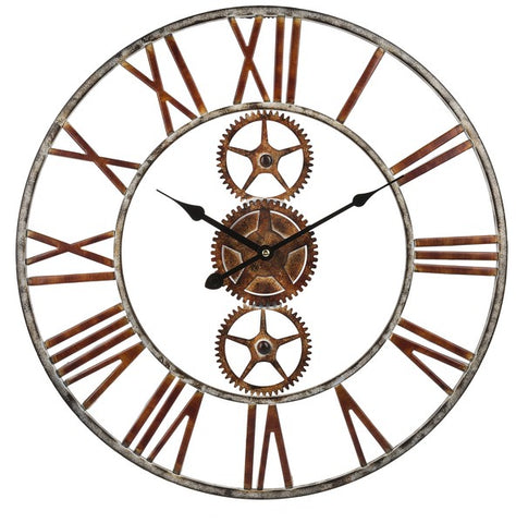 IRON GEARS WALL CLOCK - Treehouse Gift & Home