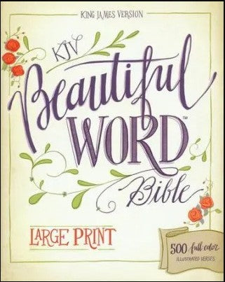 KJV BEAUTIFUL WORD Bible Large Print Harper Collins Publishing - Treehouse Gift & Home