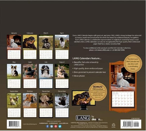 LOVE OF DOGS 2021 Wall Calendar - Treehouse Gift & Home