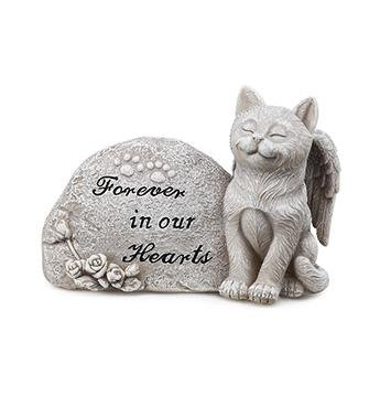 Memorial Plaque with Cat - Treehouse Gift & Home