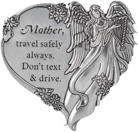 Mother, Travel Safely Always. Don't Text and Drive. Visor Clip - Treehouse Gift & Home