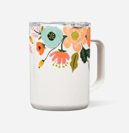 Mug - 16 oz Gloss Cream Lively Floral - Treehouse Gift & Home
