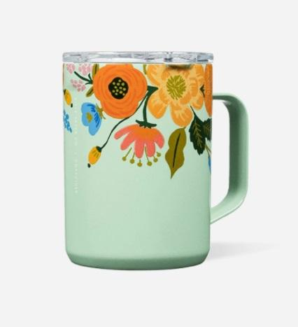 Mug - 16 oz Gloss Mint Lively Floral - Treehouse Gift & Home