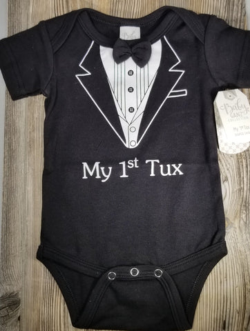 My 1st Tux Diaper Shirt Ganz