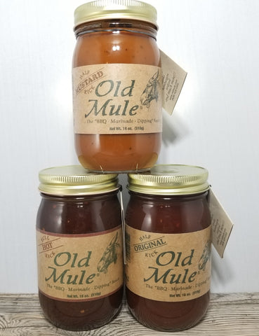 Old Mule Grilling Sauces BBQ & Mustard Treehouse Gift & Home