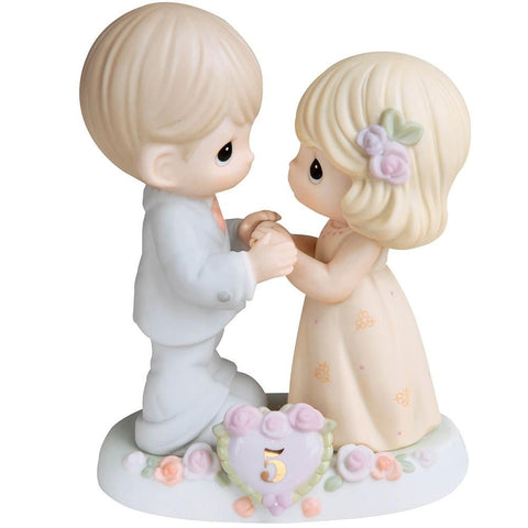 Precious Moments 5th Anniversary Couple Figurine - Treehouse Gift & Home