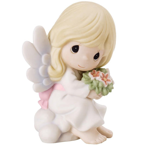 Precious Moments Angel Sitting On Cloud Bereavement Figurine - Treehouse Gift & Home