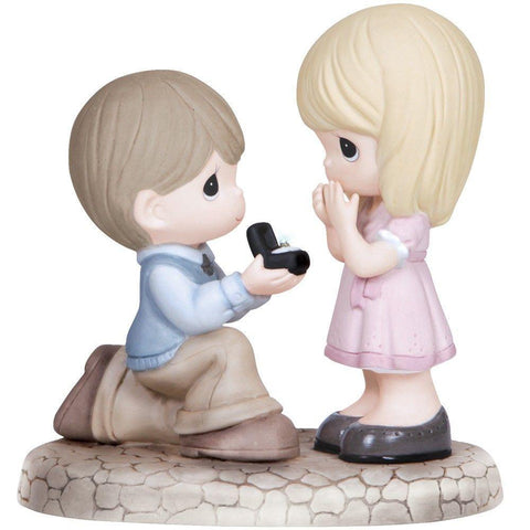 Precious Moments Boy Proposing To Girl Figurine - Treehouse Gift & Home
