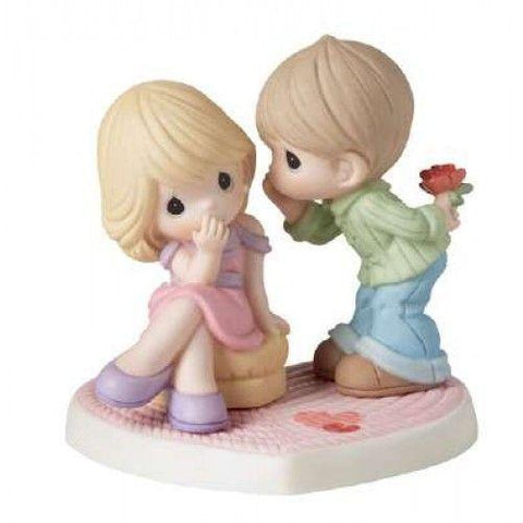 Precious Moments Boy Whispering to Girl Figurine - Treehouse Gift & Home