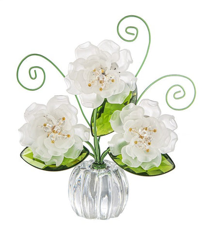 Pretty Petals Posy Pot - White Ganz