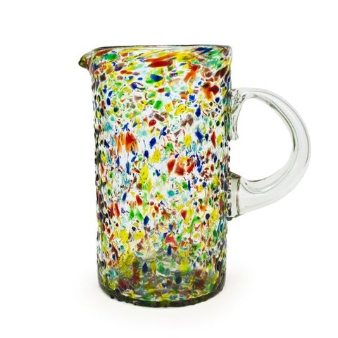 Recycled Glass Pitcher, 64 OZ, Confetti - Treehouse Gift & Home