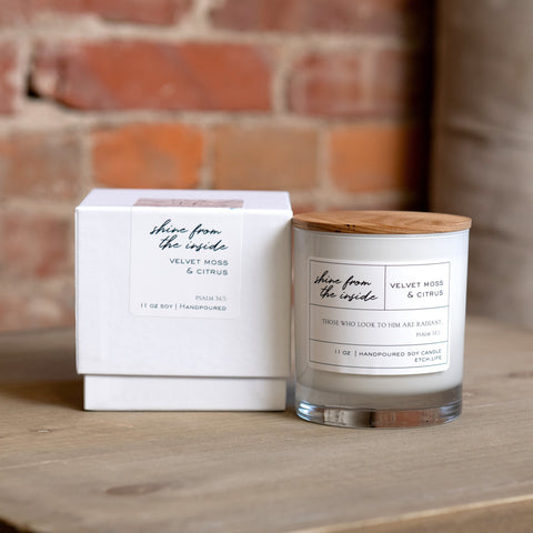 Shine from the Inside Boxed Candle in 11 oz - Treehouse Gift & Home